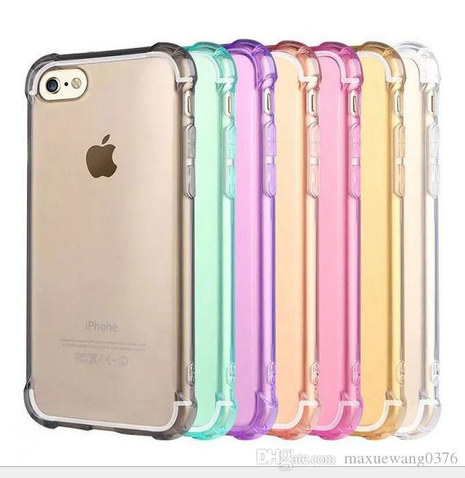 Airbag Shockproof Soft Tpu Clear Gel Back Case Cover For Iphone 5s 6