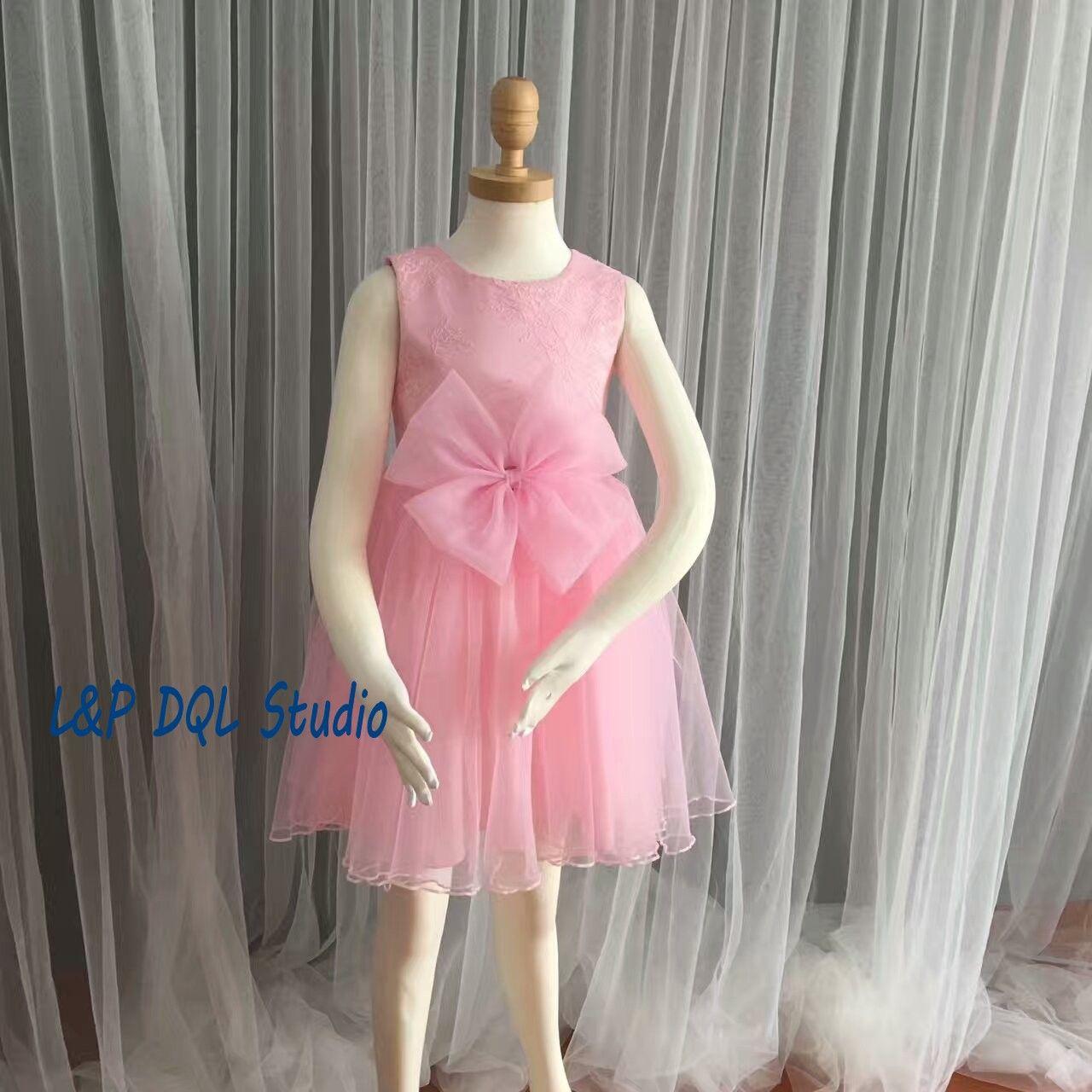 Compre Pink Flwoer Grils Vestidos Lindo 2017 Recién Llegado De Fotos ...