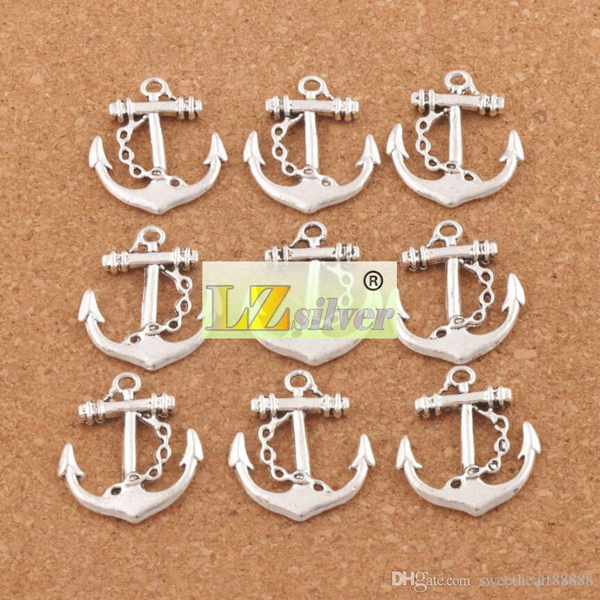 Sailing Anchor bezaubert Hoffnungs-Anhänger / 24X27mm tibetanische silberne Charme-Schmucksache-DIY Schmucksache-Entdeckungen Komponenten Heißer Verkauf