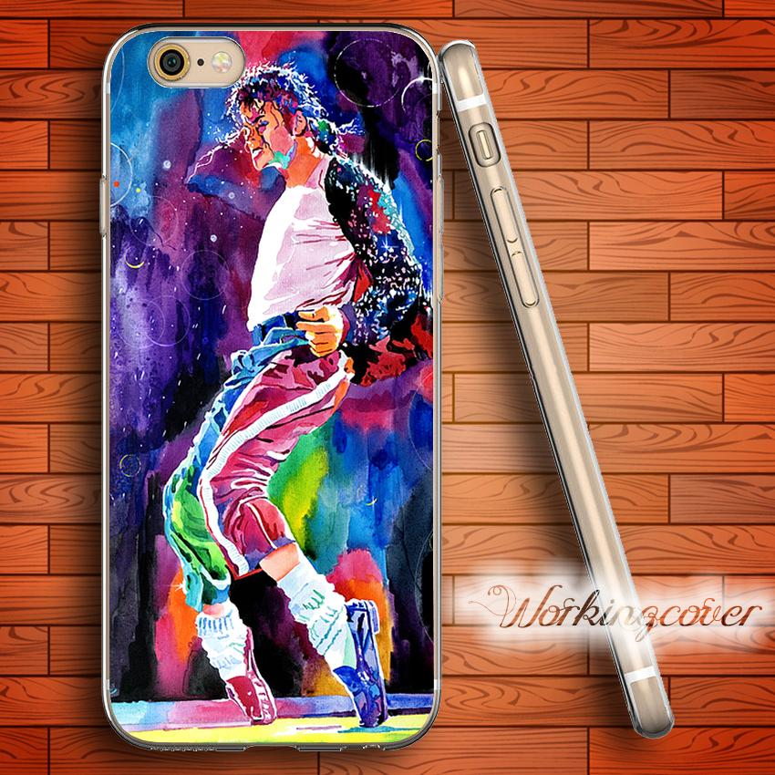 03cd80d04d Fundas Michael Jackson Dancing Soft Clear TPU Case For IPhone 6 6S 7 Plus  5S SE 5 5C 4S 4 Case Silicone Cover. Wholesale Cell Phone Cases Designer  Cell ...