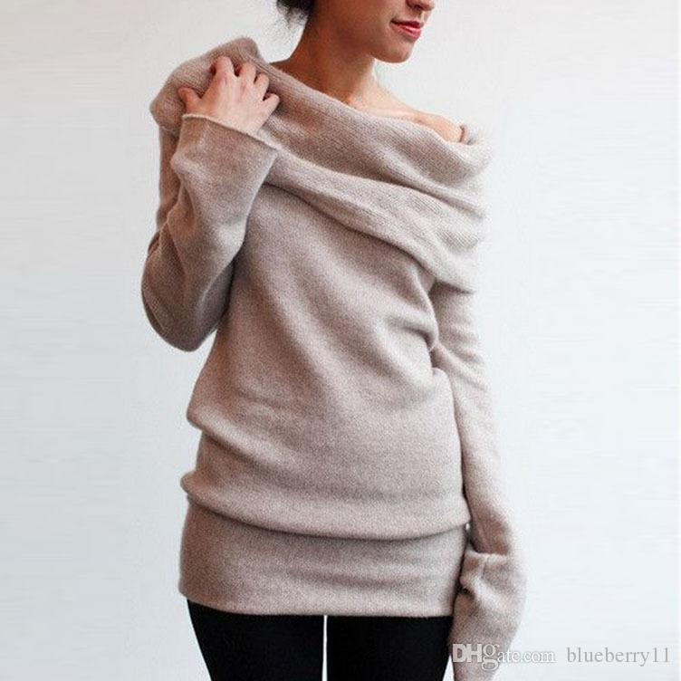 2017 Autumn winter women Long sleeve Sweater Pullovers Black Gray poncho burderry sweater women jumper unif feminino tricot