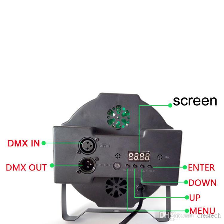 54W 18 * 3W Stadiumslichter Up-Beleuchtung dmx 512 volles RGB Farbmischungs-LED-flache Par kann rote grün-blaue Farbe, die oben-Beleuchtung Bühnentanz mischt