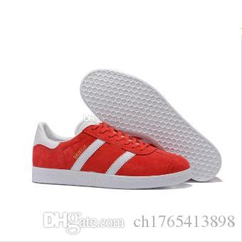Best Quality 2017 Men Women Casual Suede Gazelle Black Grey Red Yellow Lightweight Walking Hiking Shoes 36-45