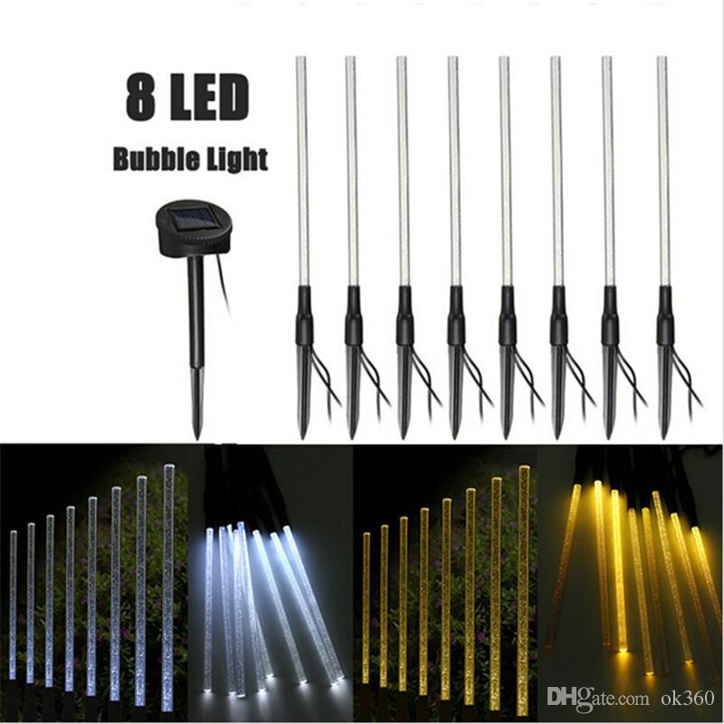 2018 8 led solar tube string light rechargeable purewarm white 2018 8 led solar tube string light rechargeable purewarm white acrylic bubble stick led outdoor light garden landscape lighting lawn lamp from ok360 mozeypictures Image collections