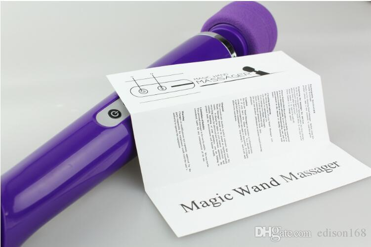Hot 10 Speeds Rechargeable Magic Wand Massager Powerful AV Vibrator Electric Personal Full Body Massager Female Masturbation Sex Toy