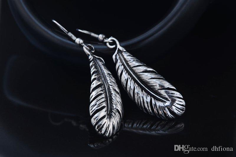 Kanal Küpe Dangle Küpe Retro Vintage Tüyler Şekil Dangle Charm Küpe Kadınlar için Kulak Kancası Takı 2020661067