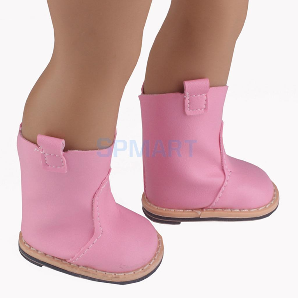 Spmart new arrivals Fashion Dolls Half Boots Flat-heel Shoes for 18inch 42-45cm 1/4 American Girl Dolls Accessories