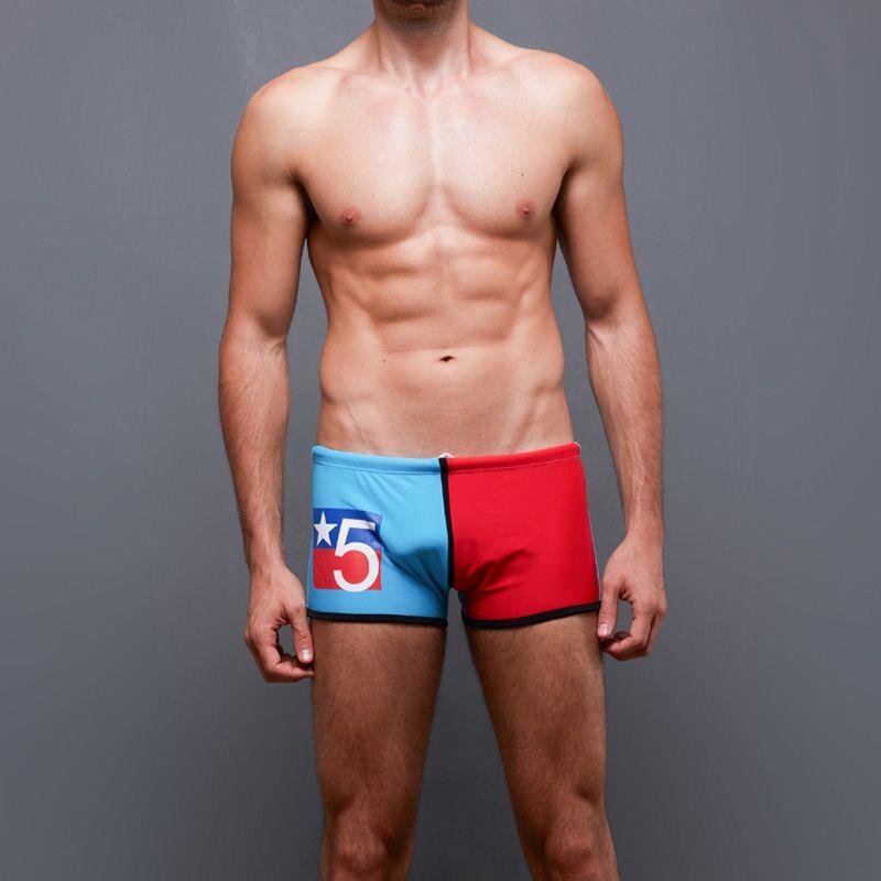 262d269da79 Wholesale- 2017 Gay Mens Swimwear Swimming Trunks Patchwork Male ...
