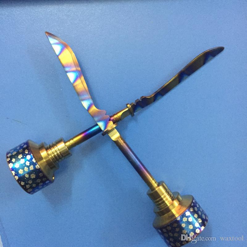 2017 Rainbow Titanium Carb Cap Werkzeug Domeless Titan Nagel schwert Tupfen Werkzeug mit Carb Cap Dabber