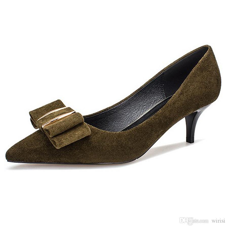 9b52cc771aac Großhandel Wome Billig High Heels Schuhe Online Kauf Damen Kleid Pumpen  Outlet Schuh Sites Kaufen Weiblich Mode Name Marke Büro Schuhe Schuhe  Online Von ...