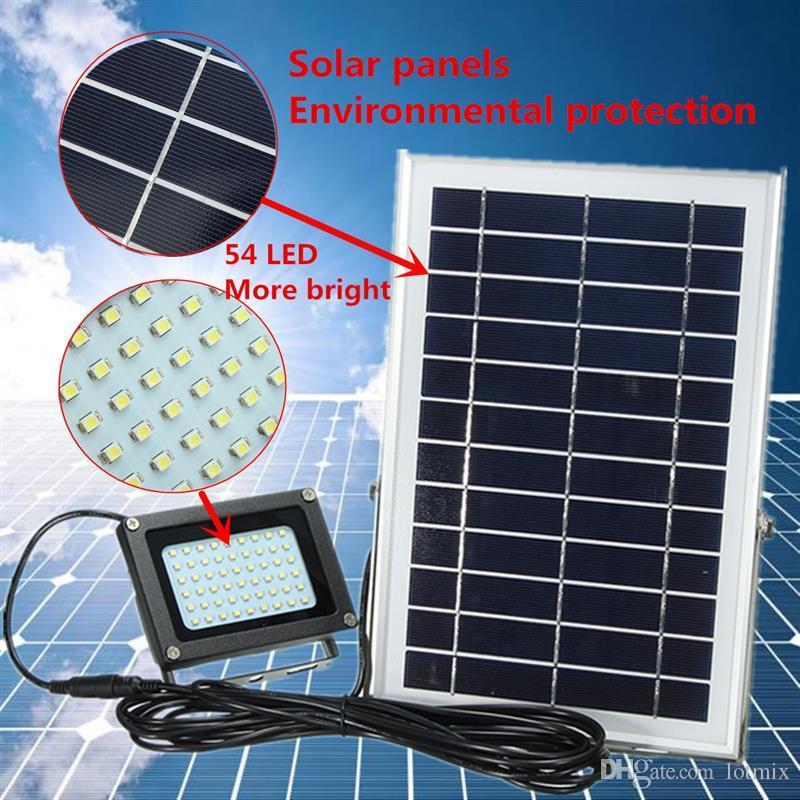 3528 SMD панели Sloar мощность 54 светодиодный прожектор Sloar свет безопасности Открытый сад путь освещением уличного лампы водонепроницаемый лампы IP65
