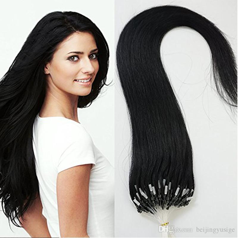 Brazilian Loop Micro Ring Hair Extensions Straight Micro Bead Hair