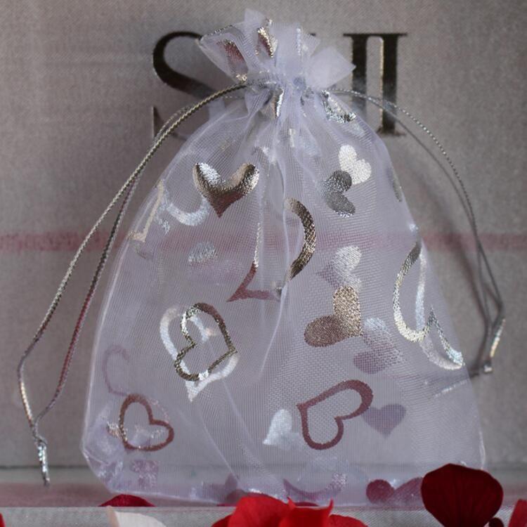 الأورجانزا مجوهرات الحقائب حقائب هدية لحفل زفاف 7 ** 9cm و10 * 12CM 11 * 16CM 13 * 18CM 15 * 20CM 17 * 23CM 20 * 30CM بالجملة 0006Pack الحرة