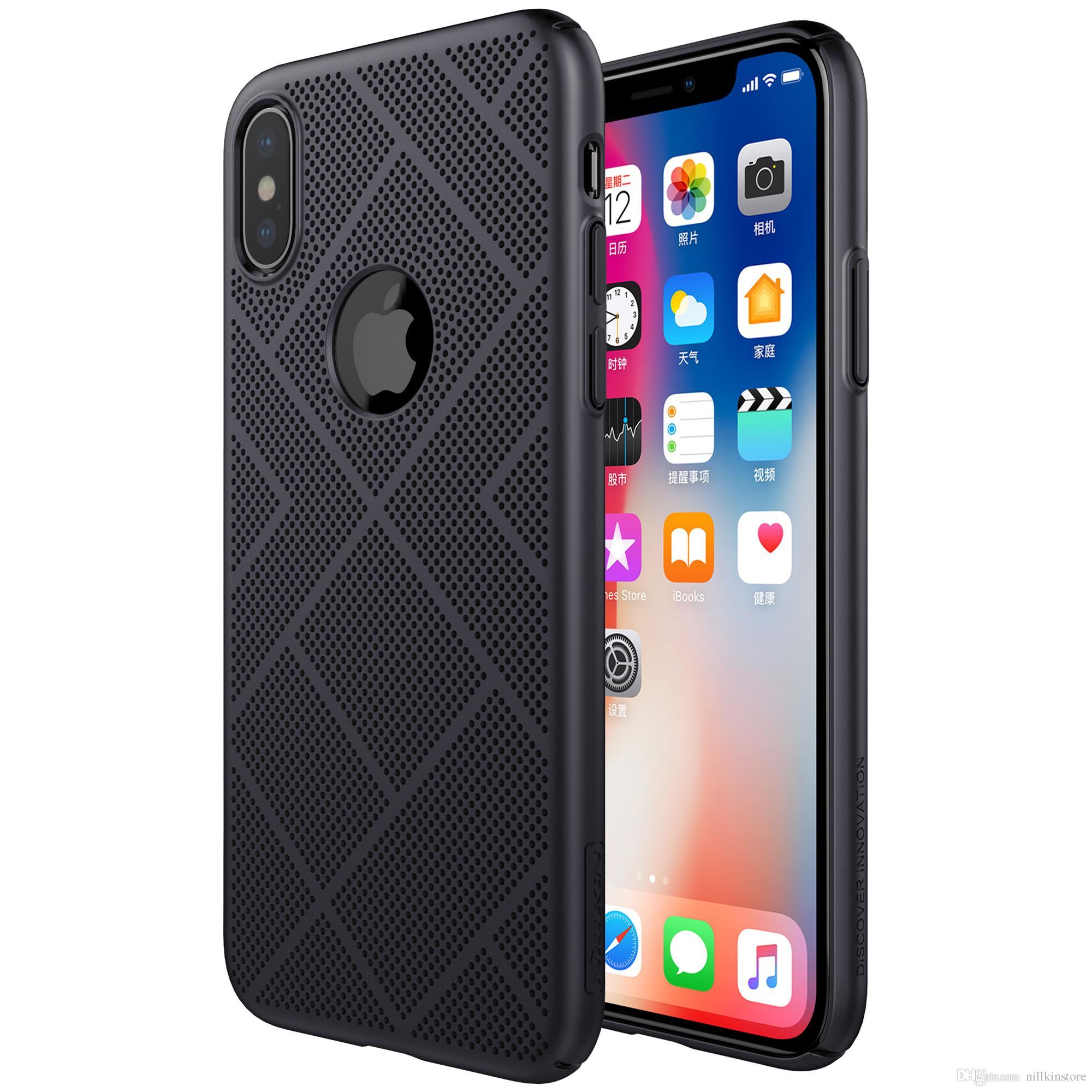 5d4a4c6e6f5 Personaliza Tu Carcasa Estuche Nillkin Air Breathable Series Para Apple IPhone  X Frosted Shield Estuche Mate Para Apple IPhone X Fundas De Movil ...