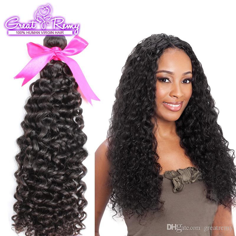 Retail 10A Double Drown Brazilian Peruvian Indian Virgin Human Hair Weave Bundles Top Malaysia Best Quality Deep Curly Wave Greatremy