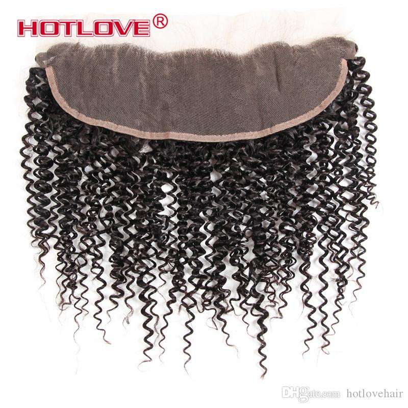 Lace Frontal Pre Plucked With Baby Hair Indian Kinky Curly Weave With Closure Frontal India Raw Human Hair For Black Women