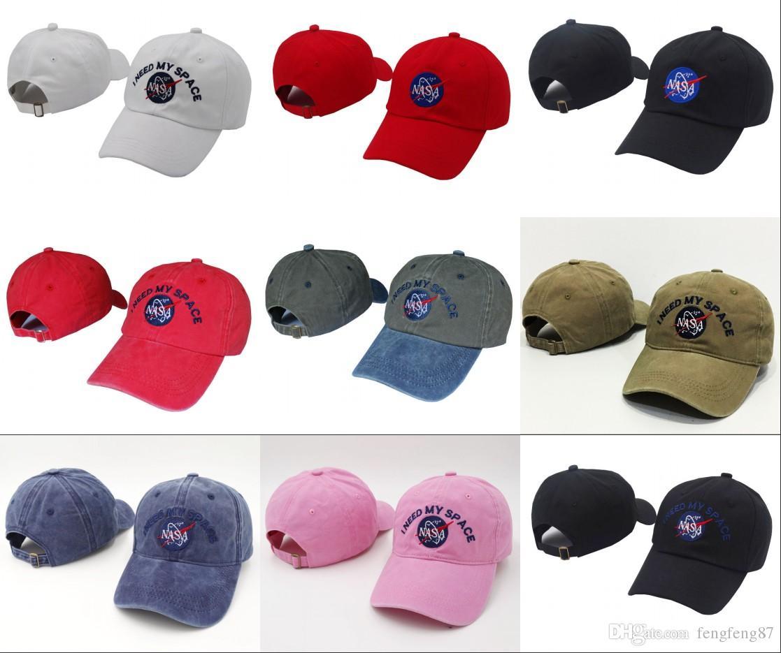 Fashion NASA I Need My Space Snapback Skateboard Women Dad Hat Cap ... 571a1fd89881
