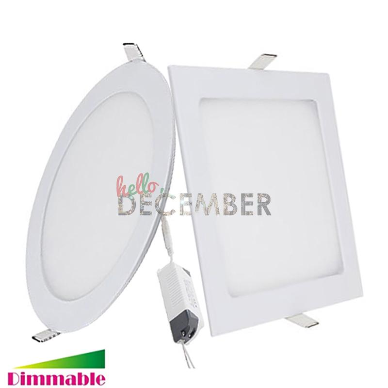 3W 6W 9W 12W 15W 18W 21W Dimmable rond / carré LED voyants Downlight 3-4-5-6-7-8-9 Plafond Encastré LED Plafonniers