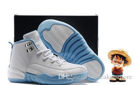 12 Çocuk Basketbol Ayakkabıları Çocuk 12 s Yüksek Kaliteli Spor Ayakkabı Gençlik Erkek Kız Basketbol Sneakers Satılık EU28-35
