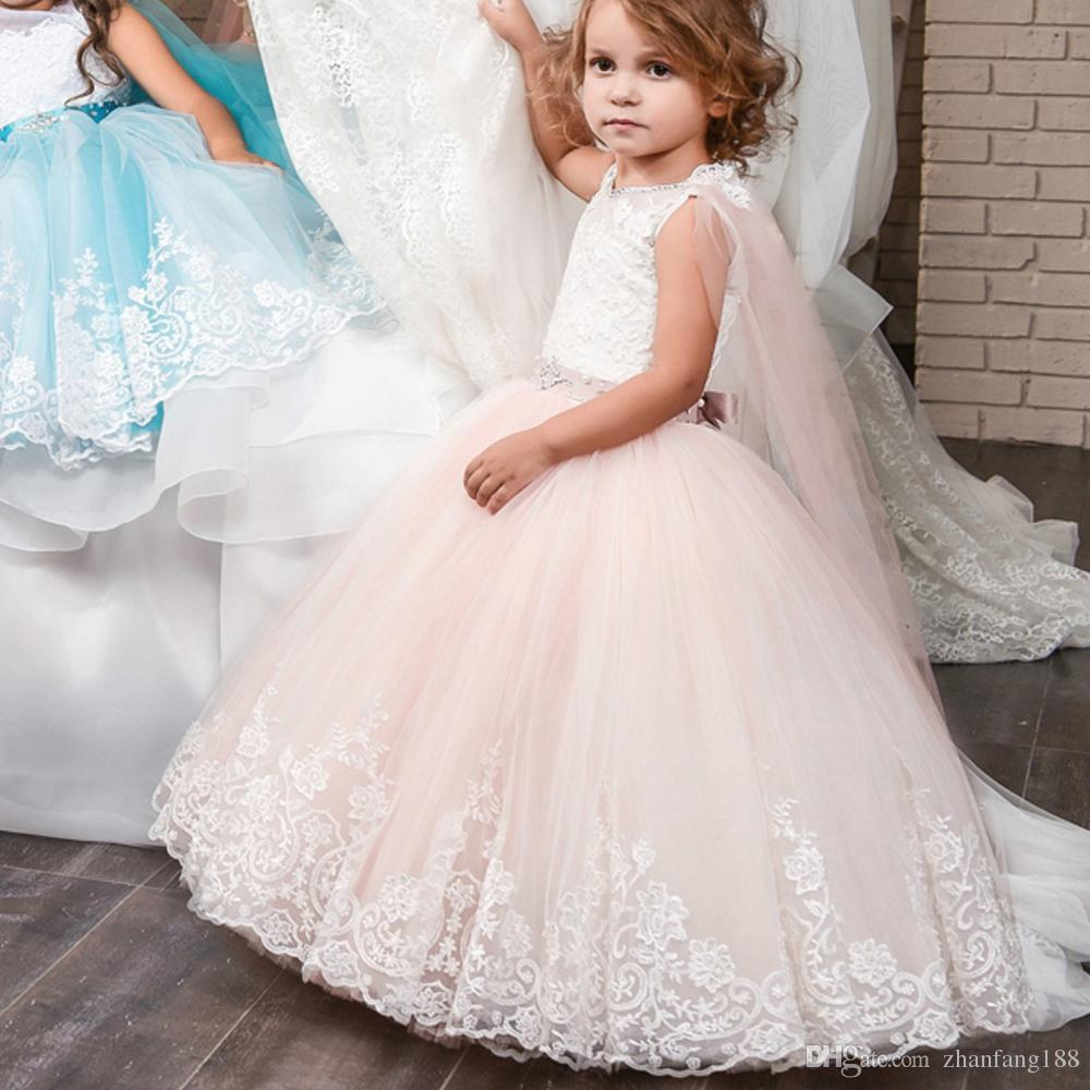 Princess Long Turquoise Dresses for Girl 8 12 with Cape Puffy Tulle Children Graduation Ball Gown Pageant Dress for Girls Glitz