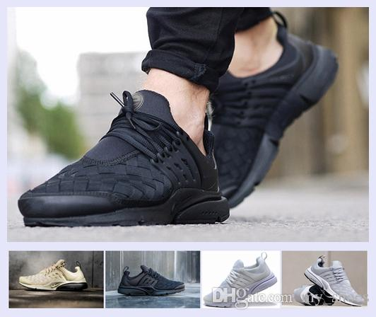 new product 29a51 1d9da Presto Ultra SE Woven Sand All Black Midnight Navy Wolf Grey Running Shoes  Airs Cushion Outdoor Casual Walking Men Sneakers