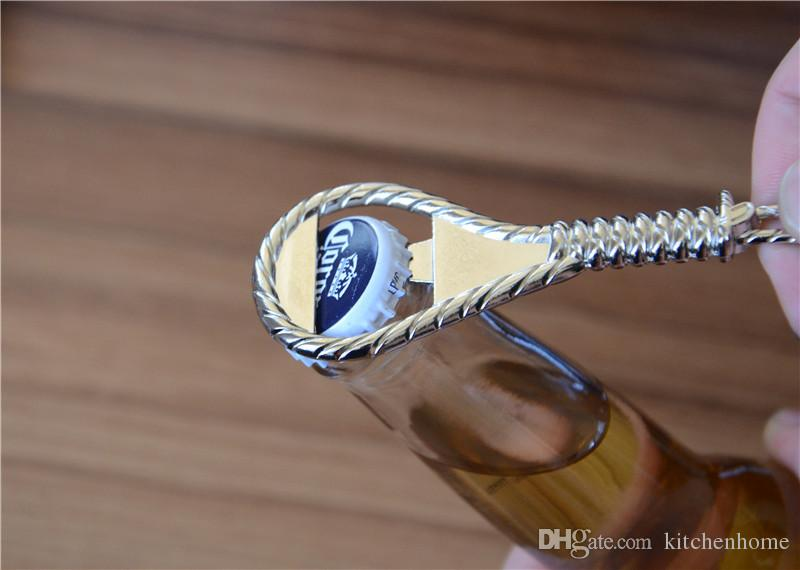Retro Rope Beer Bottle Zinc Alloy Silver Key Rope Beer Openers Kitchen Bar Small Gadget Tools