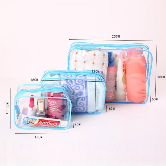 Transparente Saco Cosmético Mulheres Maquiagem Saco Organizador de Viagem PVC Sacos De Lavar Zipper Bolsa Organizador Trousse Maquillage Femme