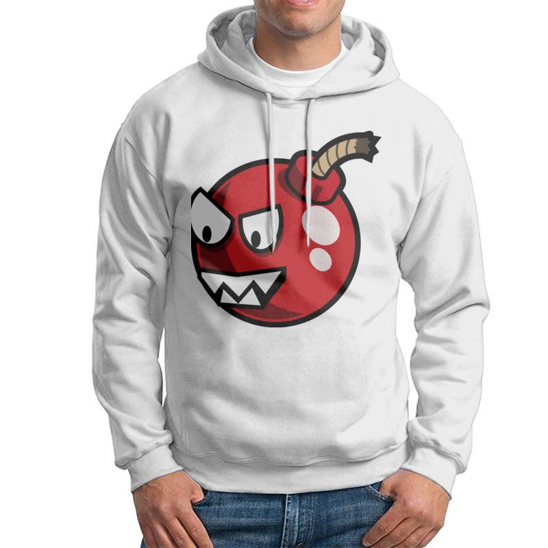 New style male cartoon cherry bomb hoodies and hip hop street dance tops black 3D printed hoodies 2XL 100%cotton comfortable breathable