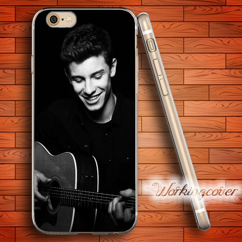promo code a3e61 4a043 Capa Shawn Mendes Play Guitar Soft Clear TPU Case for iPhone 6 6S 7 Plus 5S  SE 5 5C 4S 4 Case Silicone Cover.