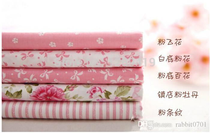 Hot 40*50CM Sweet Pink Printed Cotton Fabric Telas Bundle DIY Patchwork Sewing Baby Toy Material Quilting Bedding Tecido