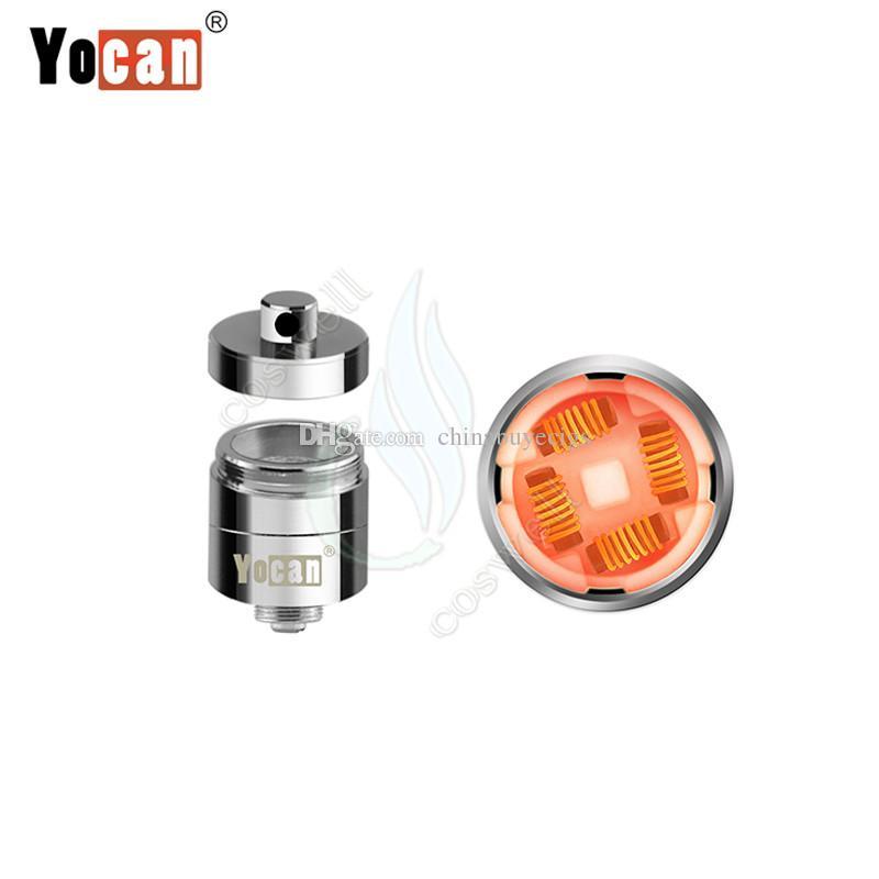 Yocan Evolve Plus XL Wax Vaporizer Kit Herbal Dry Herb Herbal QUAD Coils Detachable Built-in Silicone Jar Vape Pen e cigs cigarettes Vapor