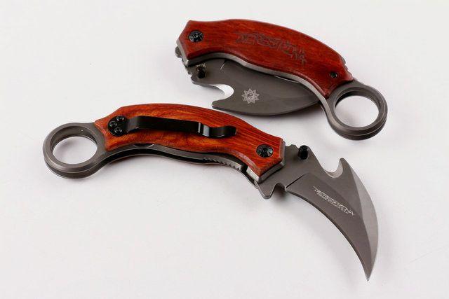 Top Quality X52 EDC Karambit Coltelli 5CR13MOV Manico In Legno Mantis Claw Knife Attrezzature Esterne di Campeggio Di Sopravvivenza Coltello Utensili Da Taglio Regalo B96L