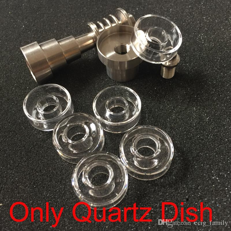 Remplacement d'ongle de Hybird Titanium 100% plat réel de quartz Plats de quartz de qualité pour le bâti de pétrole de Dnail Enail Bongs Plat de quartz remplaçable