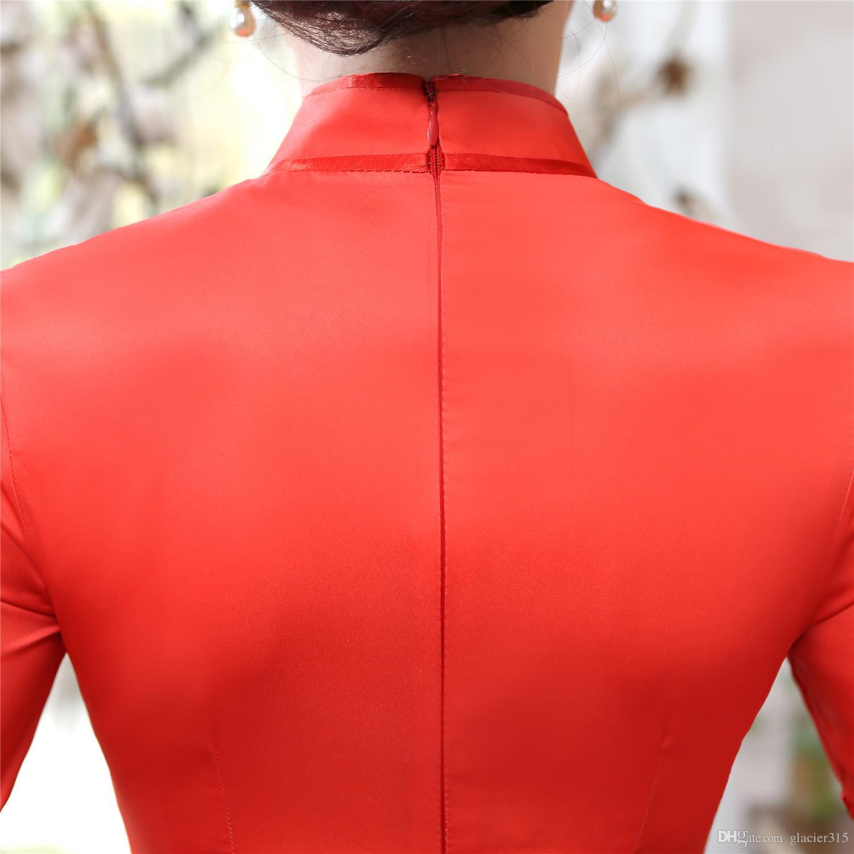 شنغهاي قصة فيتنام aodai الملابس التقليدية الصينية للمرأة تشيباو طويل اللباس الشرقية الصينية شيونغسام آو داي