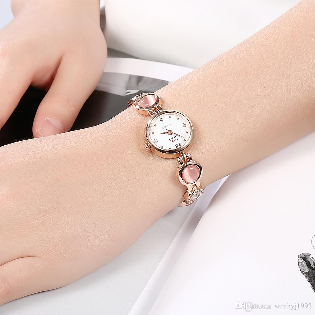 female watches pretty women product watch gold bracelet watche rose lady wrist online lovely delicate casual wedding quartz fashion rhinestone