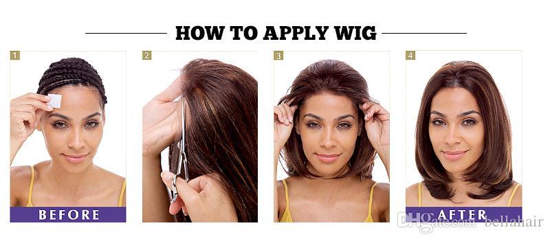Human Hair Lace Wigs Blond #613 Lace Front Wigs Medium Cap Transparent Lace Virgin Brazilian Hair Wigs