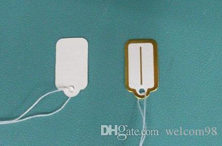 500 pz / lotto Carta Etichetta Prezzo Tags Carta gioielli Packaging Display Fashion Regalo Artigianato 13mmx26mm LA6