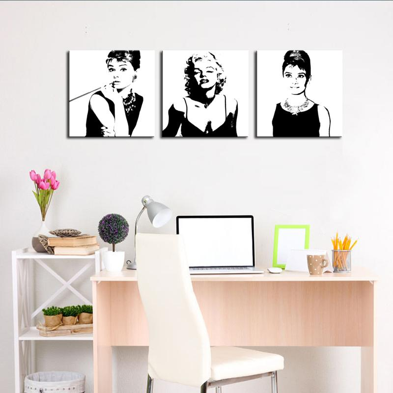 Discount Marilyn Monroe And Audrey Hepburn Painting Picture Print On ...