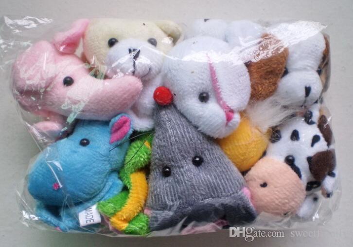 2017 le plus chaud nouveau détail bébé peluche jouets marionnettes à doigt accessoires de parler 10 groupe d'animaux