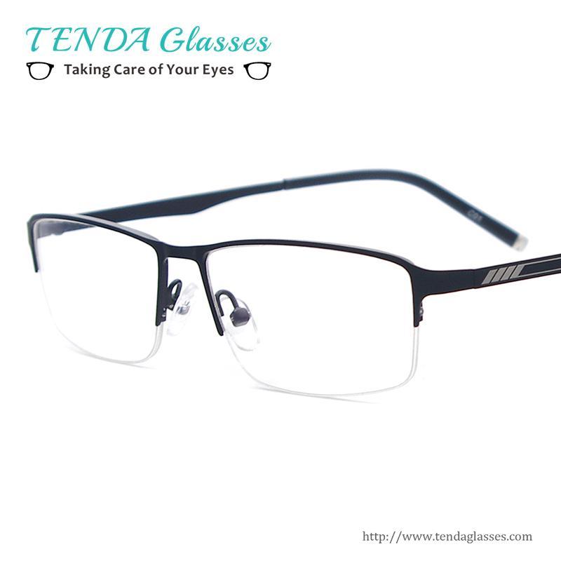 7baa07c9721 Wholesale- Metal Half Rim Fashion Designer Men Rectangle Eyeglass ...