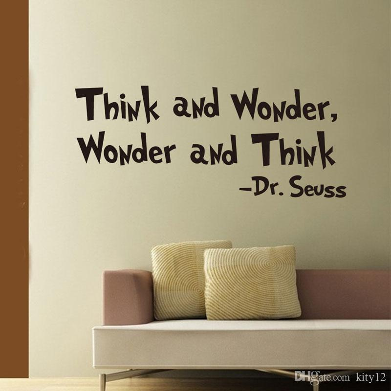 New Removable Vinyl think Lettering Quote Wall Decals Home Decor Sticker Mordern art Mural for Kids Nursery Living Room