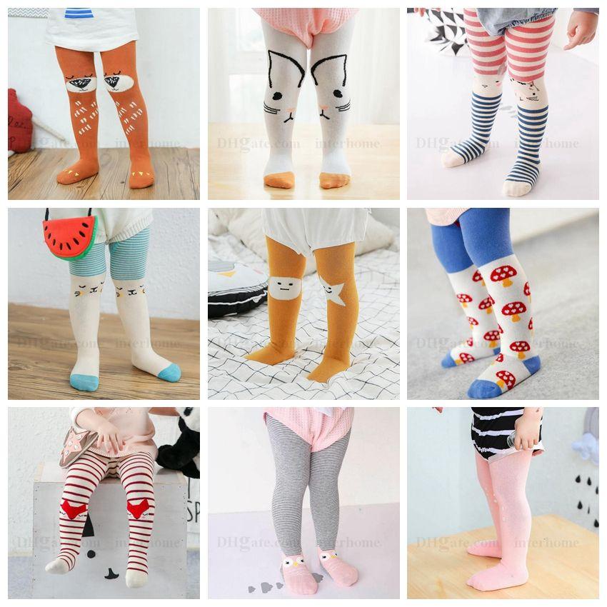 e2ff0aeb818 2019 Girls Leggings Baby Cartoon Pantyhose Kids Animals Printed Tights  Striped Baby Fashion Pants Trousers Children Stockings 22 Designs H588 From  Interhome ...