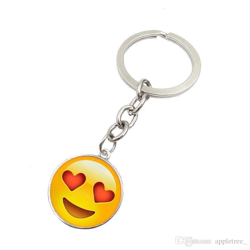 Emoji porte-clés chaînes porte-clés Smiley Face porte-clés Emoji pendentif porte-clés porte-clés porte-clés accessoires en gros cadeau de fête de Noël