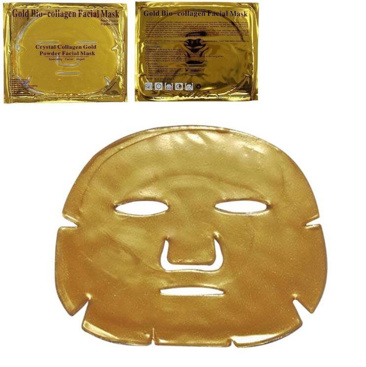Neue Ankunfts-populäre Gold-Bio-Kollagen-Gesichtsschablonen-Gesichtsmaske-Kristallgoldpuder-Kollagen-Gesichtsschablone Moisturizing