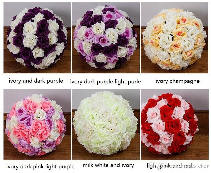 """6"""" 15 CM Artificial Rose Silk Flower Kissing Balls White Flowers Ball For Christmas Ornaments Wedding Party Decoration New Arrival"""