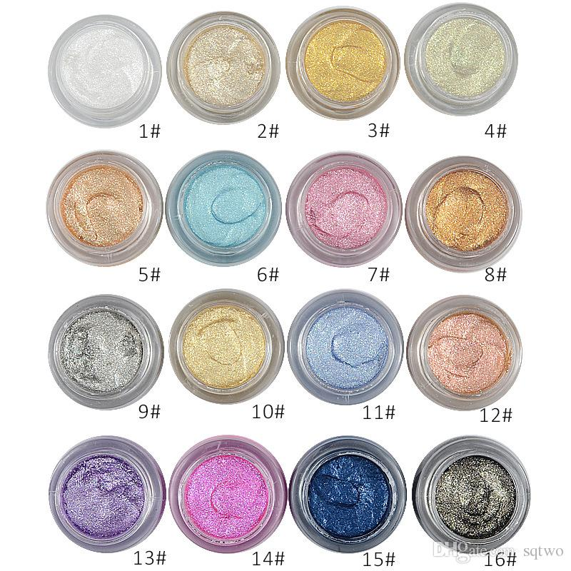 LOVE ALPHA 3D Glitter Eye shadow Eyeshadow Gel Cream Metallic Powder Pigment Makeup Perfume Highlighter cosmetics