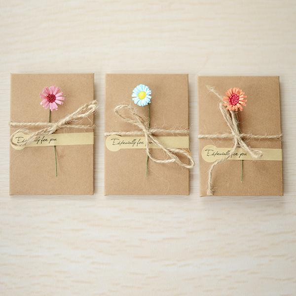 Stationery Wholesale Diy Dried Flowers Greeting Cards Creative Gift