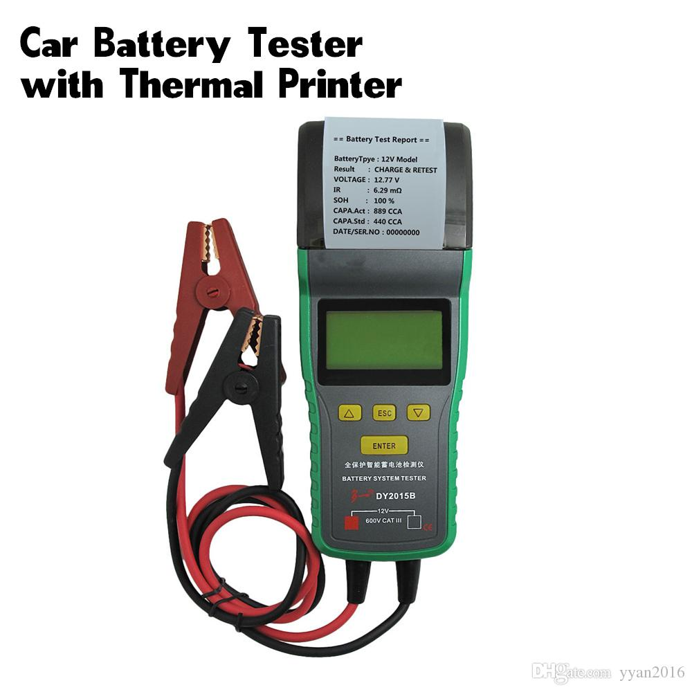 12V Automotive Car Battery Load Tester 12V & 24V Battery Analyzer With  Printer 30AH-200AH