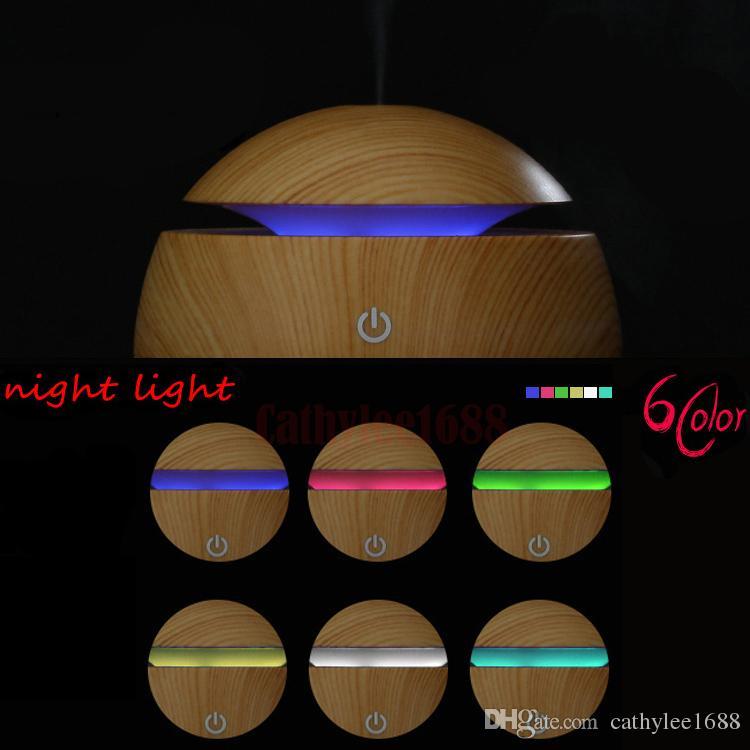 حار بيع جديد 130ML LED المرطب بالموجات فوق الصوتية كول ميست مرطب الهواء USB لتنقية الهواء للمكتب سيارة المنزل غرف النوم المعيشة شحن مجاني