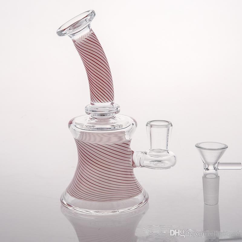 Bong de cristal especial de Grace con Bong Percolato en línea de altura masculina Botes de agua de reciclador de vidrio Plataformas de aceite de cono Peice